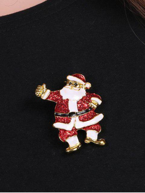 ladies Alloy Sequins Santa Christmas Embellished Brooch -   Mobile