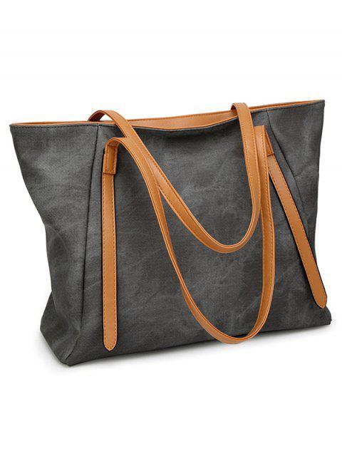 unique PU Leather Stitching Zip Shoulder Bag -   Mobile