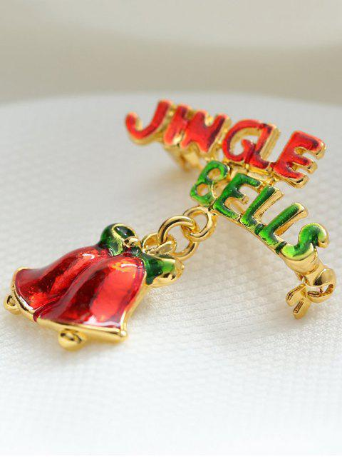 new Alloy Bows Christmas Jingle Bells Brooch -   Mobile