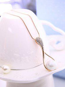 b6a526a09530 Conjunto de joyas perlas de imitación de la lágrima