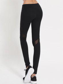Mesh Panel Leggings BLACK: Leggings M | ZAFUL
