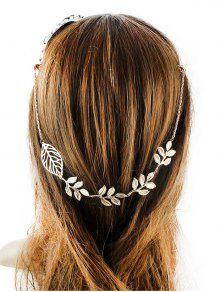 Embellished Leaf Hair Accessory - Golden