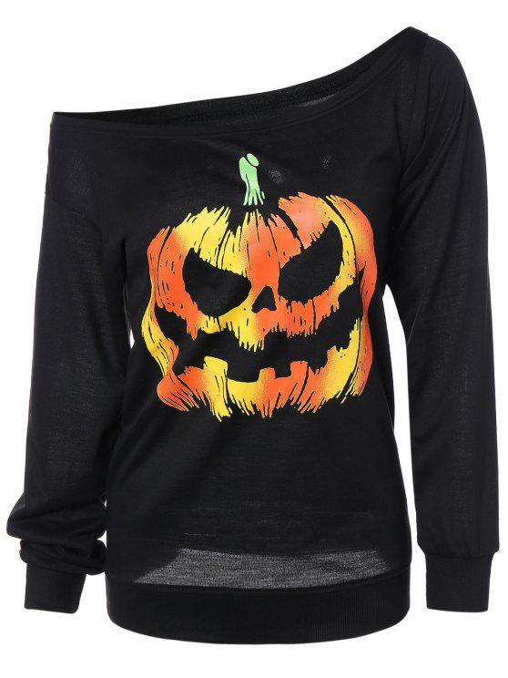 Pumpkin Jack Lanterna di Halloween Felpa - Nero XL