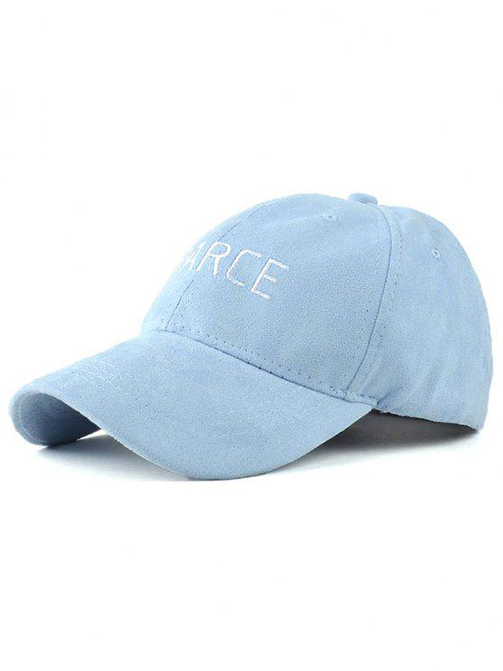 best Faux Suede Letters Embroidery Baseball Hat - BLUE
