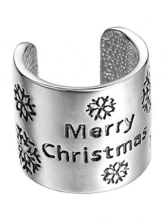 women's Merry Christmas Ring - SILVER