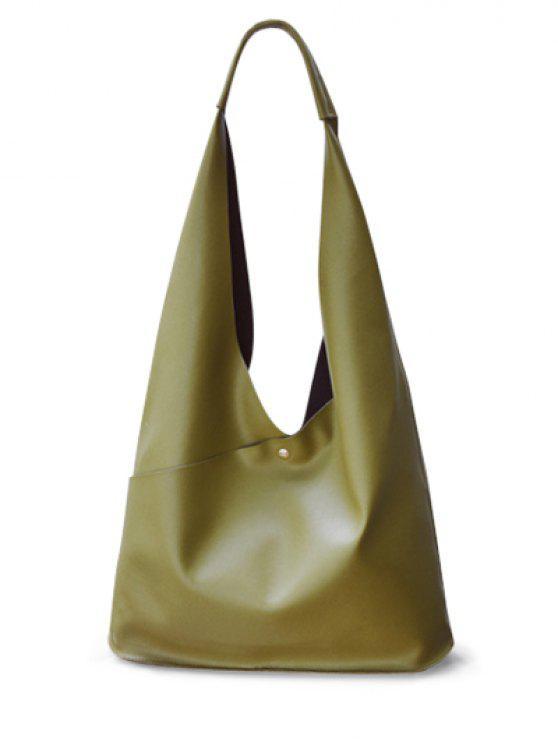 new Magnetic Irregular Shape PU Leather Shoulder Bag - GREEN