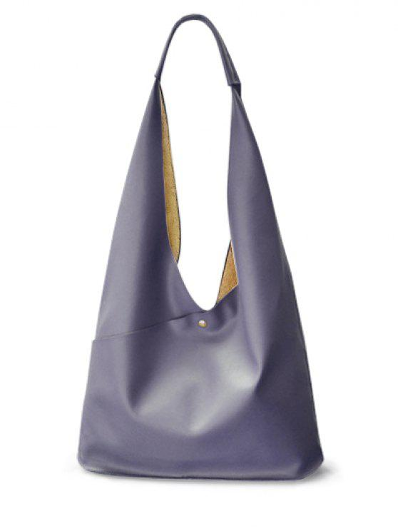 La bolsa de hombro de la PU de cuero magnético de la forma irregular - Gris Oscuro