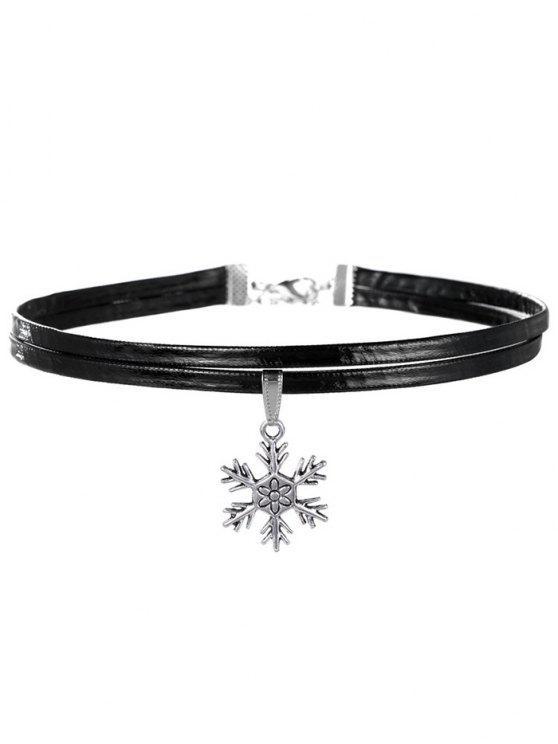 shops Snowflake Choker Necklace - SILVER