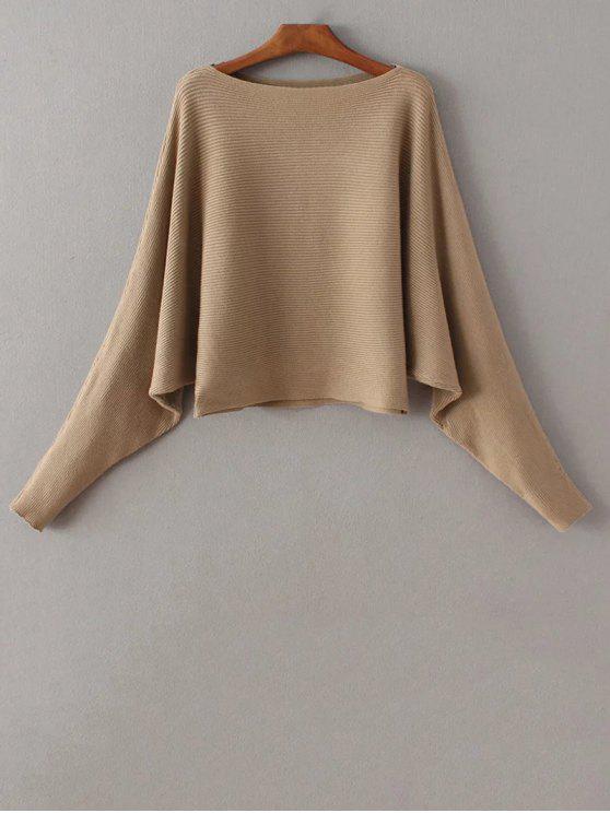 shops Bat-Wing Sleeve Sweater - CAMEL ONE SIZE