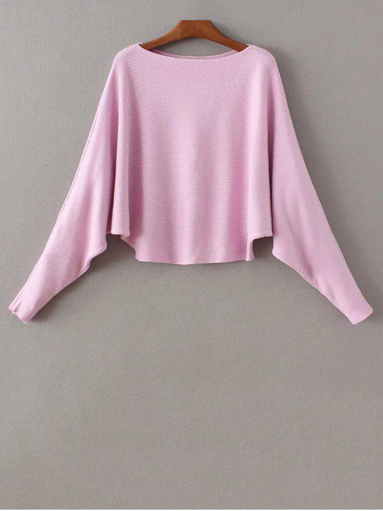 latest Bat-Wing Sleeve Sweater - PURPLE ONE SIZE