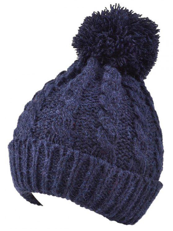 Bonnet d'hiver plein air tricoté - Bleu Cadette