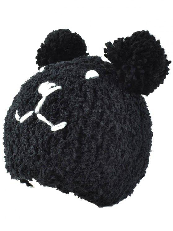 women's Little Bear Knit Hat - BLACK