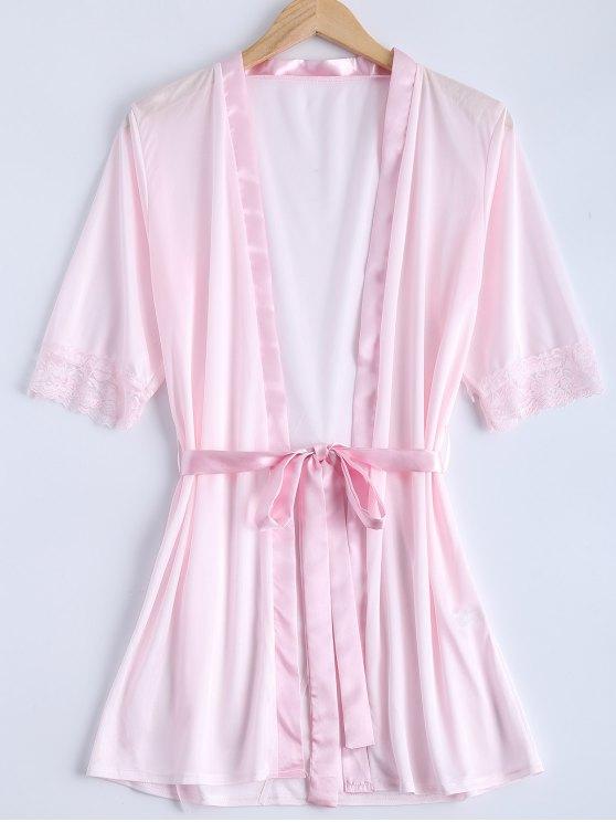 مربوط الرباط إدراج ملابس للنوم - زهري S