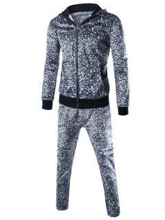 Zip Up Hoodie And Leopard Pants Twinset - Leopard M