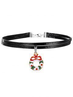 Bowknot De La Navidad Anillo Gargantilla - Negro