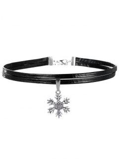 Snowflake Choker Necklace - Silver