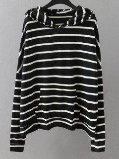 Pockets Striped Sweatshirt - Black 2xl