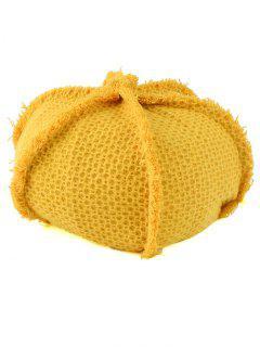 Crochet Knit Artist Beret - Yellow
