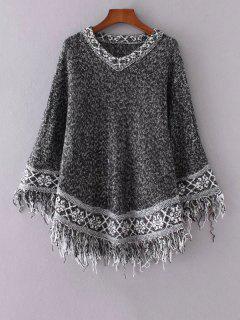 Ethnique Tassel Jacquard Sweater - Noir