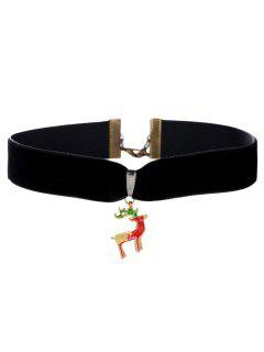 Christmas Deer Velvet Choker - Black