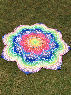 Bright Flower Round Beach Throw