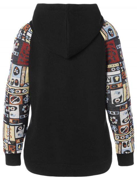 shops Printed Pullover Autumn Hoodie - COLORMIX XL Mobile