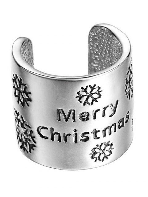 women's Merry Christmas Ring - SILVER  Mobile