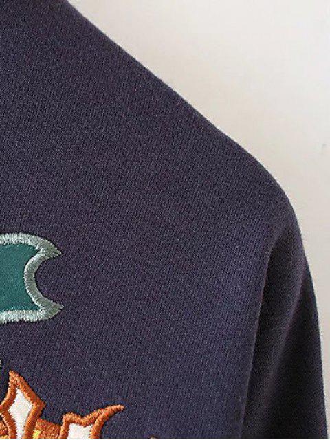 Brodé Sweatshirt col haut - Vert Armée TAILLE MOYENNE Mobile