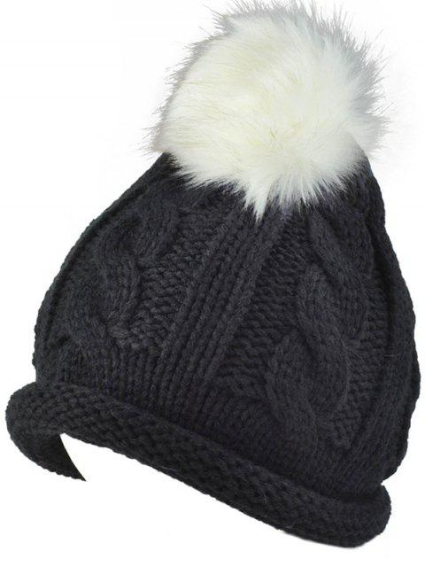 unique Pom Ball Hemp Flowers Beanie Cap -   Mobile
