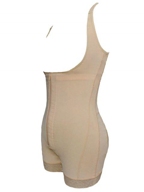 ladies Straps Back Backless Zip Up Full Body Corset - COMPLEXION 3XL Mobile