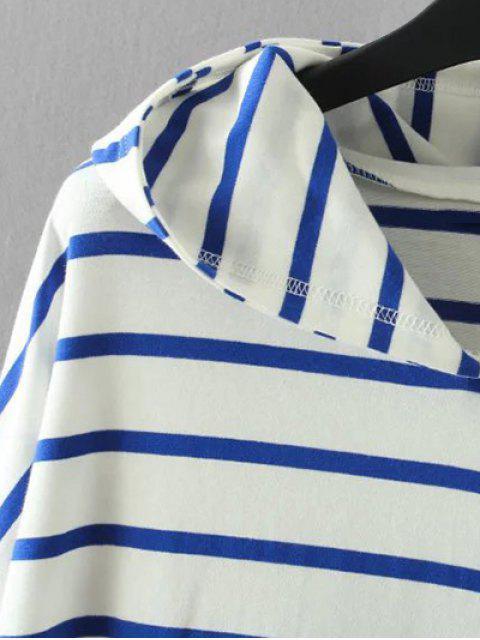 Poches à rayures Sweatshirt - Noir XL Mobile