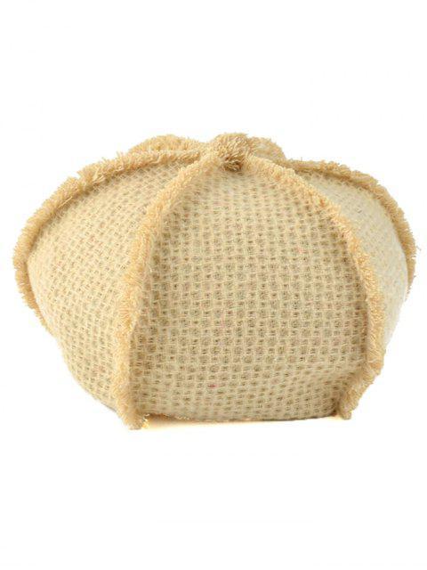 affordable Crochet Knit Artist Beret - BEIGE  Mobile