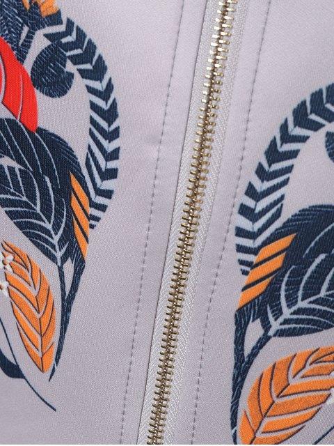 Baisse épaule ourlet plongeant Jacket - Gris XL Mobile