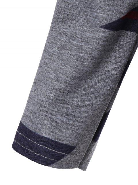 Imprimé géométrique Sweat à capuche - Gris S Mobile
