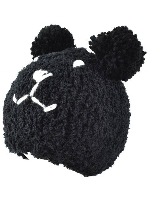 women's Little Bear Knit Hat - BLACK  Mobile