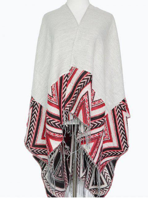 outfits Arrow Direction Tassel Wrap Pashmina -   Mobile