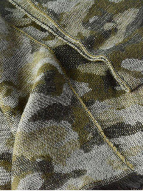 shops Army Camouflage Fringed Shawl Scarf - ARMY GREEN  Mobile