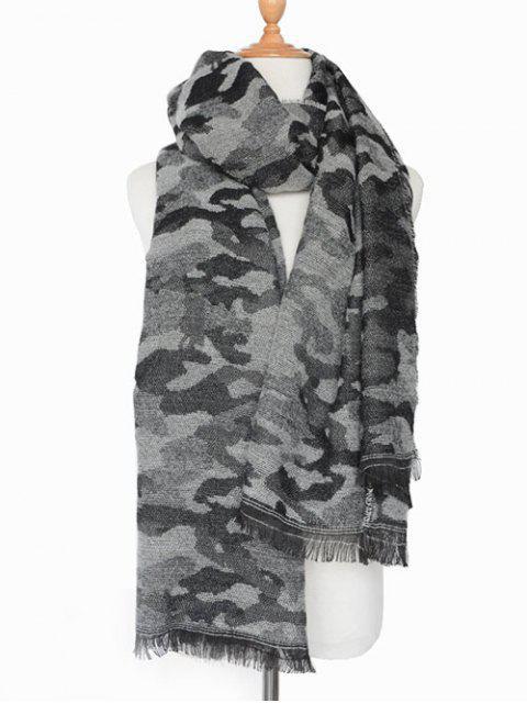 latest Army Camouflage Fringed Shawl Scarf -   Mobile