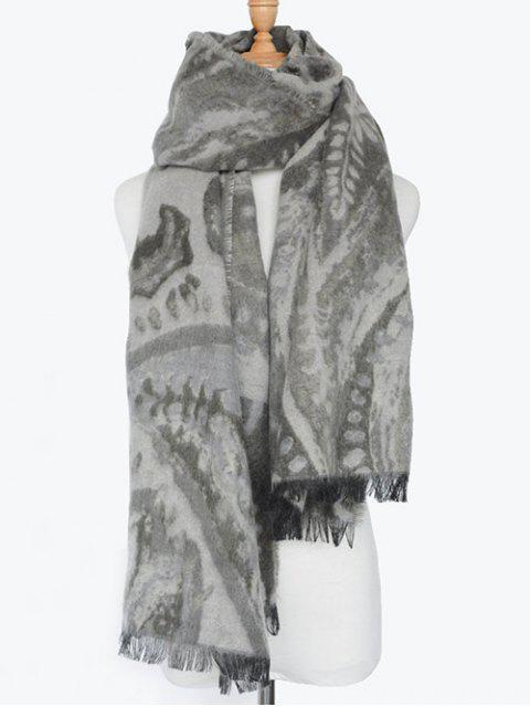 affordable Ethnic Mural Fringed Shawl Scarf -   Mobile