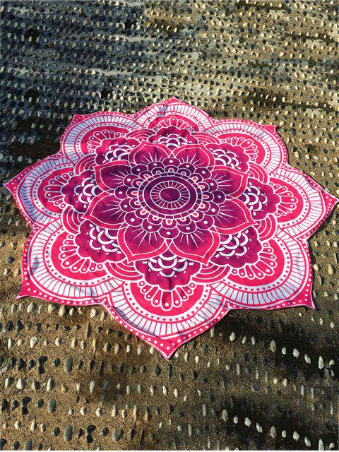 shops Lotus Flower Round Beach Throw - ROSE RED ONE SIZE Mobile