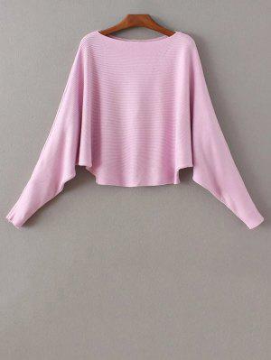 Bat-Wing Sleeve Sweater - Purple