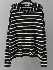 Pockets Striped Sweatshirt - Black Xl