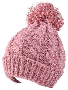 Buy Hemp Flowers Flanging Knit Hat - PINK
