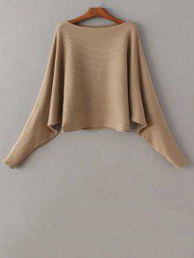 Bat-Wing Sleeve Sweater - Camel
