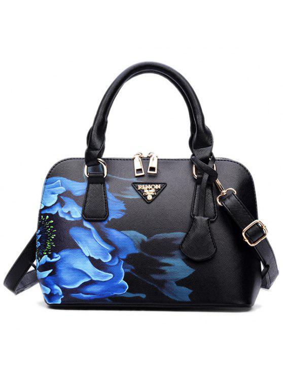 حقيبة اليد طباعة - أسود