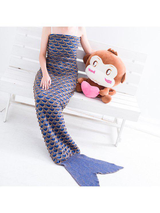 الدفء الأسماك مقياس نمط التفاف حورية البحر الذيل بطانية - كاكي