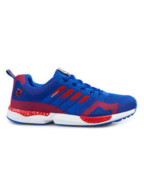 تنفس اللون تقسم التعادل يصل الأحذية الرياضية - ازرق واحمر 42