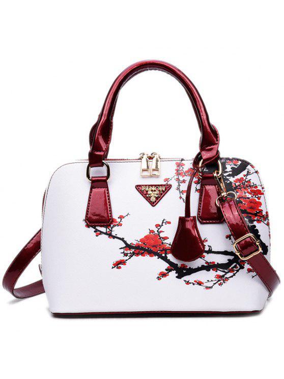 حقيبة اليد طباعة - أحمر