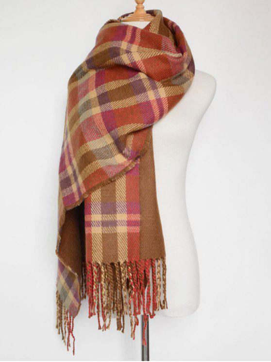 b382448460893 36% OFF] 2019 Double Sided Plaid Scarf In RED | ZAFUL