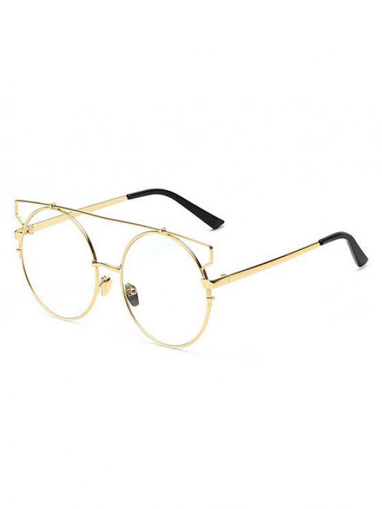 CROSSBAR lente transparente Gafas de sol redondas - Dorado